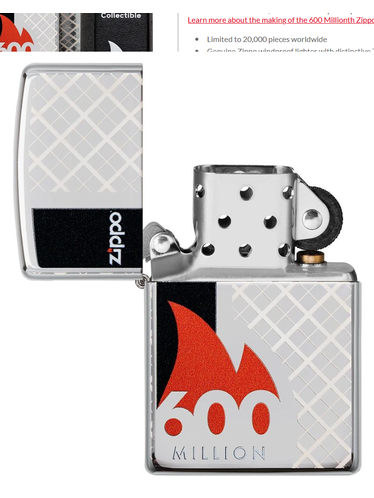 Zippo - 600 Million - 2020 Collectible Limited Edition | 2020 New